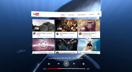 YouTube a realtà virtuale